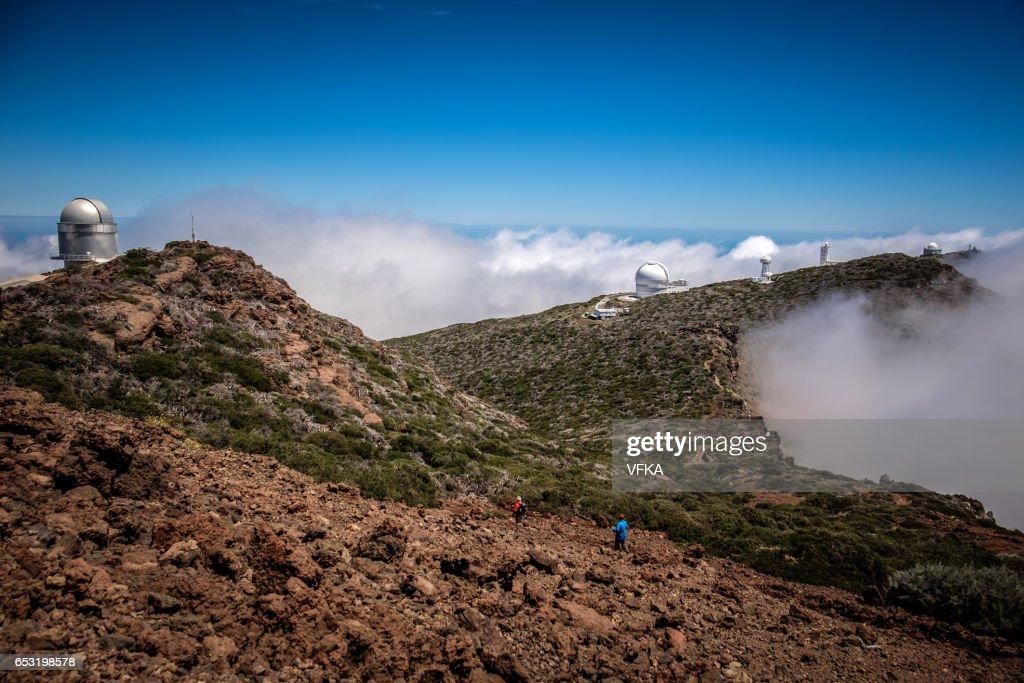 Telescopes on Roque de los Muchacos, La Palma, Spain : Foto stock