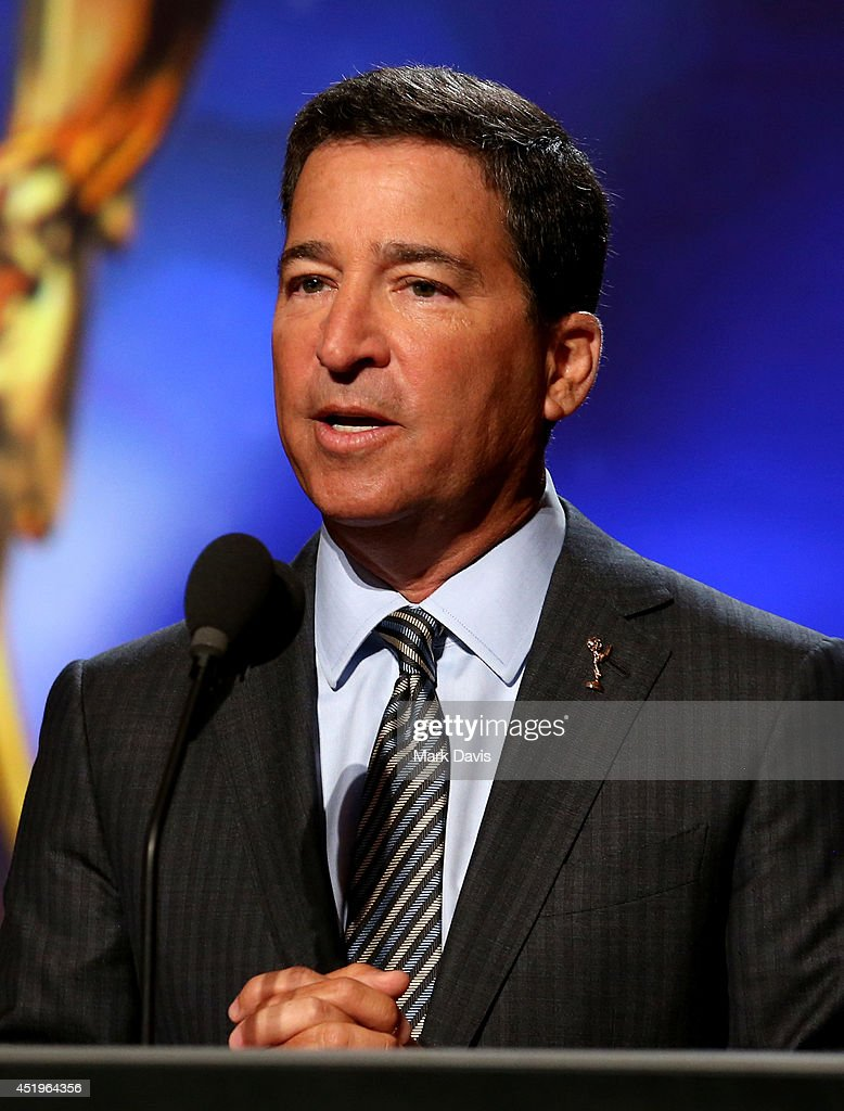 Television Academy Chairman and CEO, <a gi-track='captionPersonalityLinkClicked' href=/galleries/search?phrase=Bruce+Rosenblum&family=editorial&specificpeople=2162738 ng-click='$event.stopPropagation()'>Bruce Rosenblum</a> speaks onstage at the 66th Primetime Emmy Awards Nominations at Leonard H. Goldenson Theatre on July 10, 2014 in North Hollywood, California.