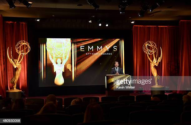 Television Academy Chairman CEO Bruce Rosenblum presents the 67th Primetime Emmy Awards nominations at SilverScreen Theater at the Pacific Design...