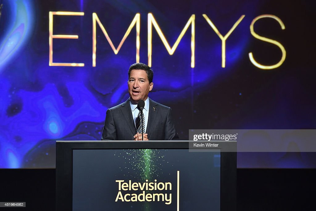 Television Academy Chairman & CEO Bruce Rosenblum speaks onstage at the 66th Primetime Emmy Awards Nominations at Leonard H. Goldenson Theatre on July 10, 2014 in North Hollywood, California.