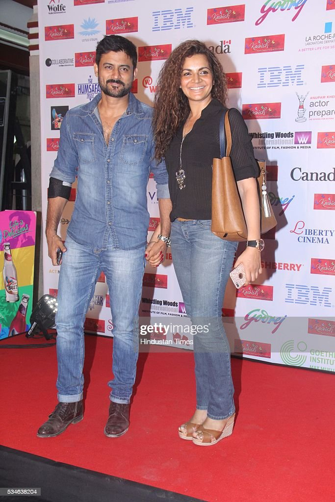 Television actor Manav Gohil with his wife and actor Shweta Kawatra during the opening ceremony of the 7th Kashish Mumbai International Queer Film Festival inaugurated by Hollywood actor Ian McKellen, at Liberty Cinema, Marine Lines, on May 25, 2016 in Mumbai, India. During a ceremony, McKellen said, 'I just want to say how happy I am to be at Kashish; it's my first visit to Mumbai. I made many friends already and I hope this evening to make many more. I've come to Mumbai to celebrate Shakespeare and to celebrate the connections between the United Kingdom and your country. And I've also come to support those who want to get rid of section 377 (which criminalizes homosexuality).'