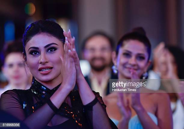 Television actor Mouni Roy during Hindustan Times Most Stylish Awards 2016 at Taj Lands End Bandra on March 20 2016 in Mumbai India