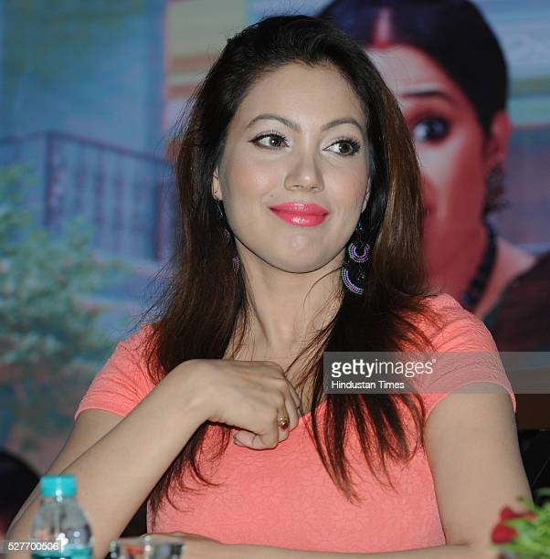 Television actress Munmun Dutta addressing a press conference regarding popular sitcom Taarak Mehta Ka Ooltah Chashmah on May 3 2016 in Bhopal India