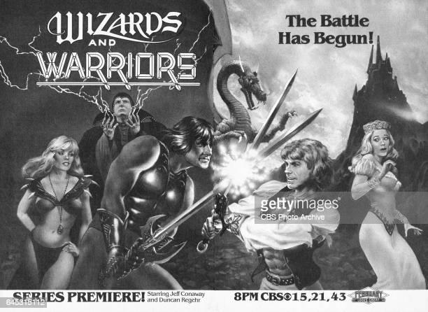 Television advertisement as appeared in the February 26 1983 issue of TV Guide magazine An ad for a Saturday primetime series Wizards and Warriors...