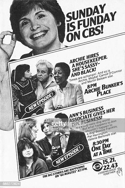 Television advertisement as appeared in the November 15 1980 issue of TV Guide magazine An ad for the comedies Archie Bunkers Place and One Day at a...