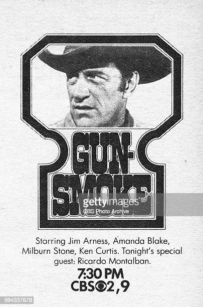 Television advertisement as appeared in the September 12 1970 issue of TV Guide magazine A spot ad for the Monday night western Gunsmoke The show...