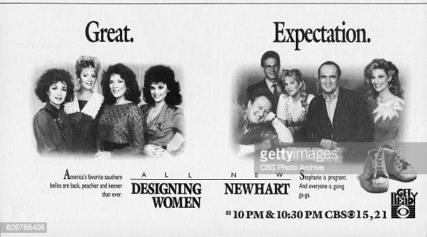 Television advertisement as appeared in the September 16 1989 issue of TV Guide magazine An ad for Monday primetime comedies Designing Women and...