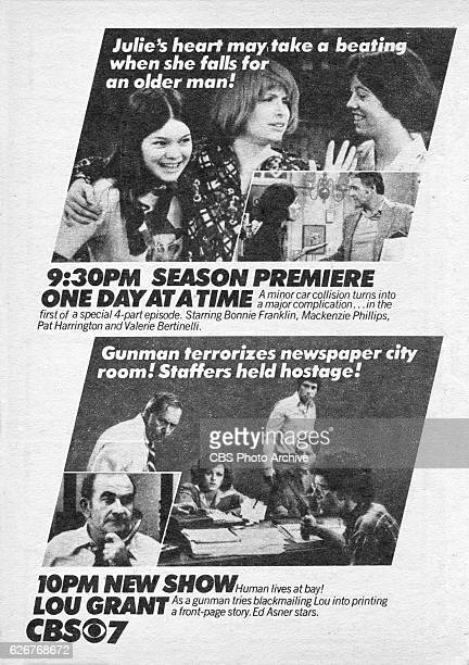 Television advertisement as appeared in the September 24 1977 issue of TV Guide magazine An ad for the Tuesday primetime programs One Day At a Time...