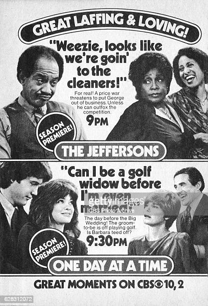 Television advertisement as appeared in the September 25 1982 issue of TV Guide magazine An ad for the Sunday primetime comedies The Jeffersons and...