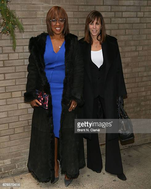 Television anchor Gayle King and Lucy Kaylin attend the 2016 Hearst 100 held at Michael's Restaurant on December 12 2016 in New York City