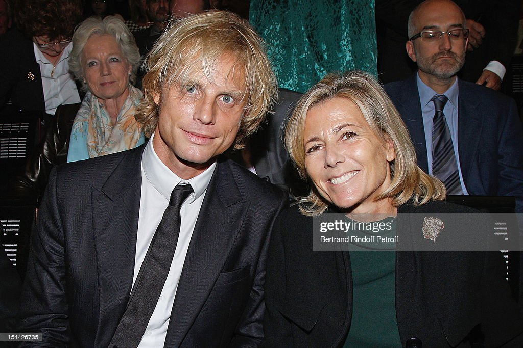 Television anchorwoman <a gi-track='captionPersonalityLinkClicked' href=/galleries/search?phrase=Claire+Chazal&family=editorial&specificpeople=240566 ng-click='$event.stopPropagation()'>Claire Chazal</a> (R) and her companion Arnaud Lemaire attend AROP Gala Dinner on October 18, 2012 in Paris, France.