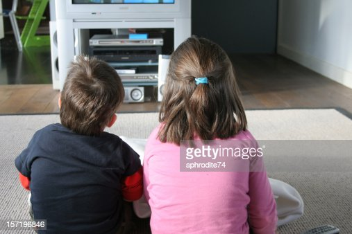 television and children : Stock Photo