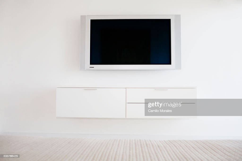 Television and entertainment center in modern living room