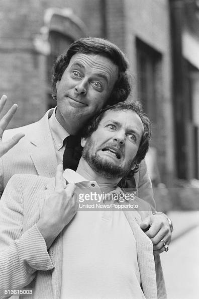 Television and radio broadcasters Terry Wogan and Kenny Everett posed together at a BBC press call in London on 15th July 1981