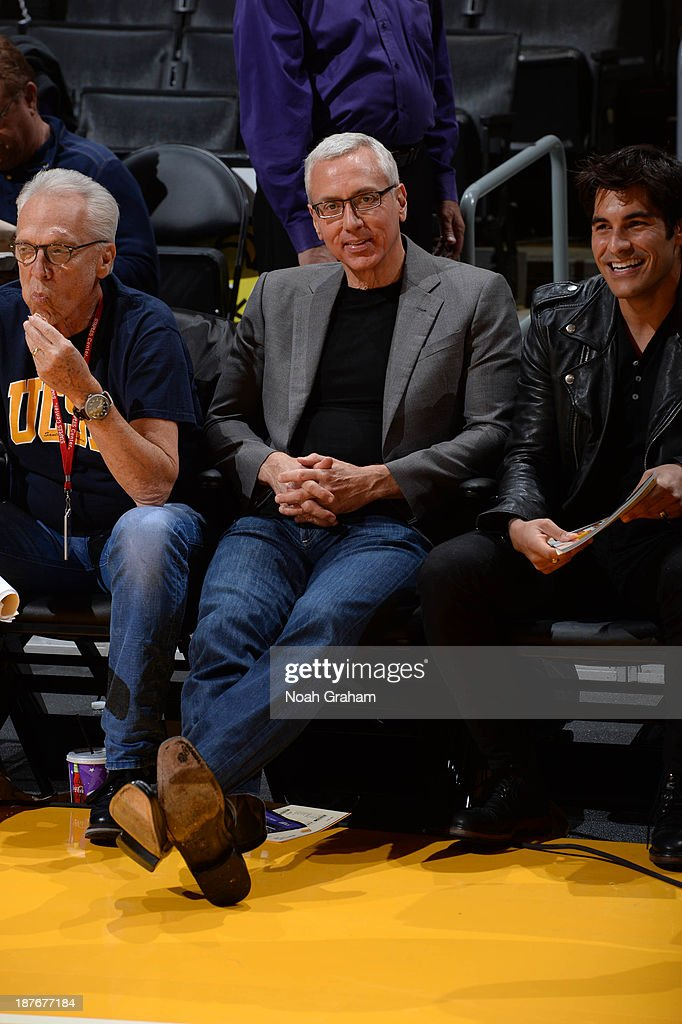 Television and radio personality Dr. Drew Pinsky attends a game between the Minnesota Timberwolves and the Los Angeles Lakers at Staples Center on November 10, 2013 in Los Angeles, California.