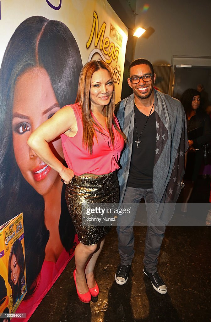 Television and radio personality Egypt Sherrod and actor and event host <a gi-track='captionPersonalityLinkClicked' href=/galleries/search?phrase=Laz+Alonso&family=editorial&specificpeople=2179533 ng-click='$event.stopPropagation()'>Laz Alonso</a> attend the relaunch of MegaGrowth at 'The Mane Event' at King Plow Arts Center on April 11, 2013, in Atlanta, Georgia.