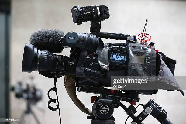 A television camera films the BBC headquarters at New Broadcasting House on November 12 2012 in London England Tim Davie has been appointed the...