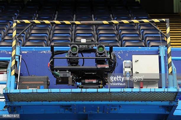 3D television cameras during the Sky Sports Super Sunday coverage of the Barclays Premier League Chelsea vs Hull City match at Stamford Bridge in...