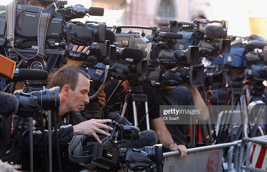 Television cameras record statements read by lawyers outside Perugia's Court of Appeal prior to the verdict in the appeal of Amanda Knox and Raffaele Sollecito's murder convictions on October 3, 2011 in Perugia, Italy. American student Amanda Knox and her Italian ex-boyfriend Raffaele Sollecito were convicted in 2009 of killing their British roommate Meredith Kercher in Perugia, Italy in 2007. The jury in their appeal is expected to retire to consider their verdict later today. They have served nearly four years in jail after being sentenced to 26 and 25 years respectively.