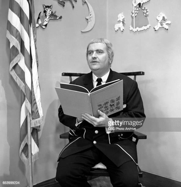 CBS television childrens program Captain Kangaroo featuring host Bob Keeshan Image dated January 8 1963 New York NY