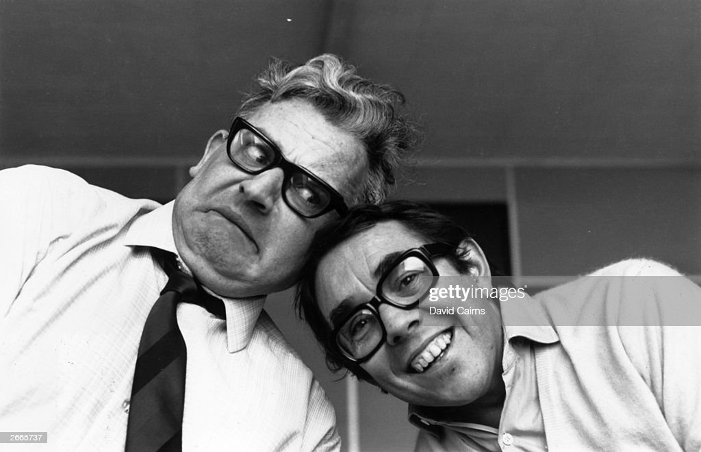 Television comedy duo The Two Ronnies Ronnie Barker and Ronnie Corbett