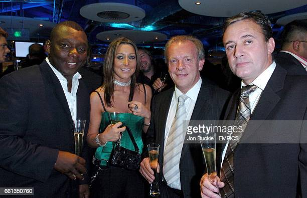 Television commentator and pundit Garth Crooks and guests at the Sky One champagne reception prior to the Mastercard FIFPro World XI Player Awards...
