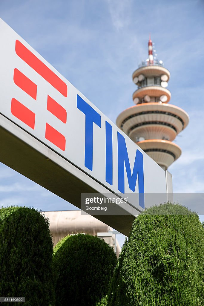 A television communications tower stands inside the headquarters of Telecom Italia SpA in Rozzano, near Milan, Italy, on Wednesday May 25, 2016. Telecom Italia named Flavio Cattaneo as chief executive officer in March, turning to a media industry veteran to implement a turnaround. Photographer: Alessia Pierdomenico/Bloomberg via Getty Images