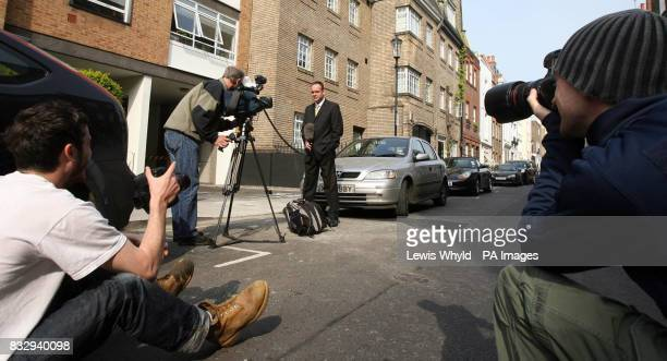 Television crews and photographers outside Kate Middleton's home in west London