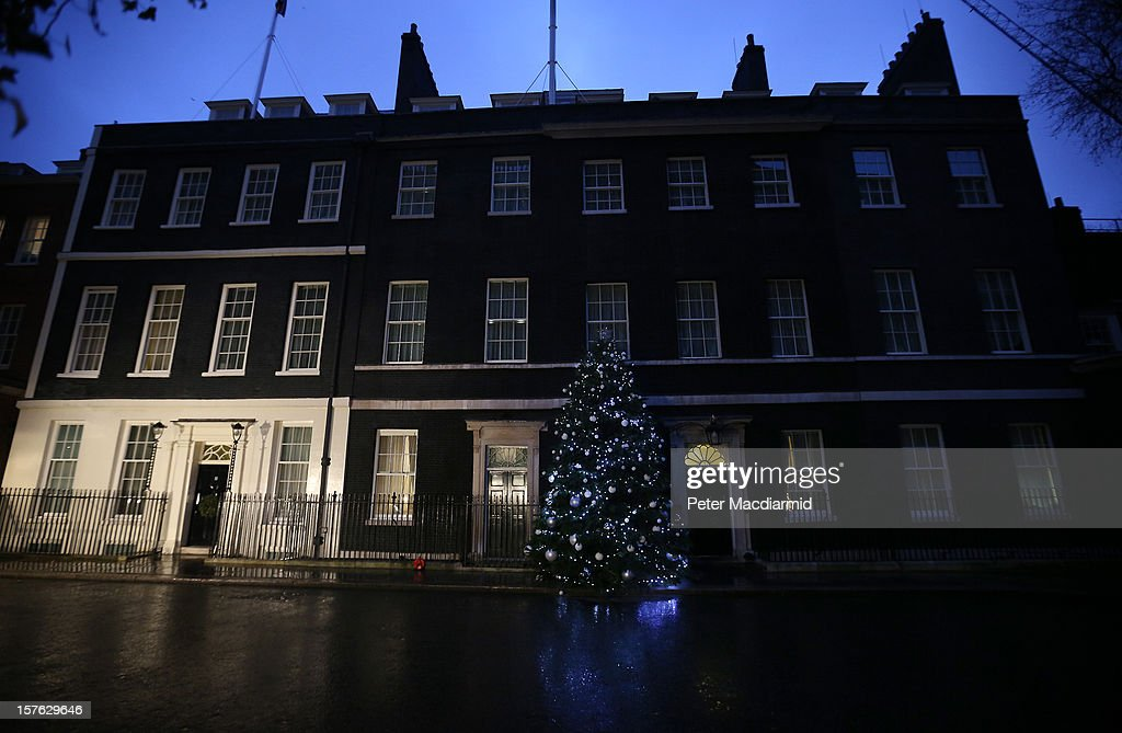 Television flood lights illuminate number 11 Downing Street at first light on December 5, 2012 in London, England. Chancellor George Osborne is expected to say that there is no miracle cure for the United Kingdom's financial woes, as the economy struggles for growth, when he delivers his Autumn Statement later in Parliament.