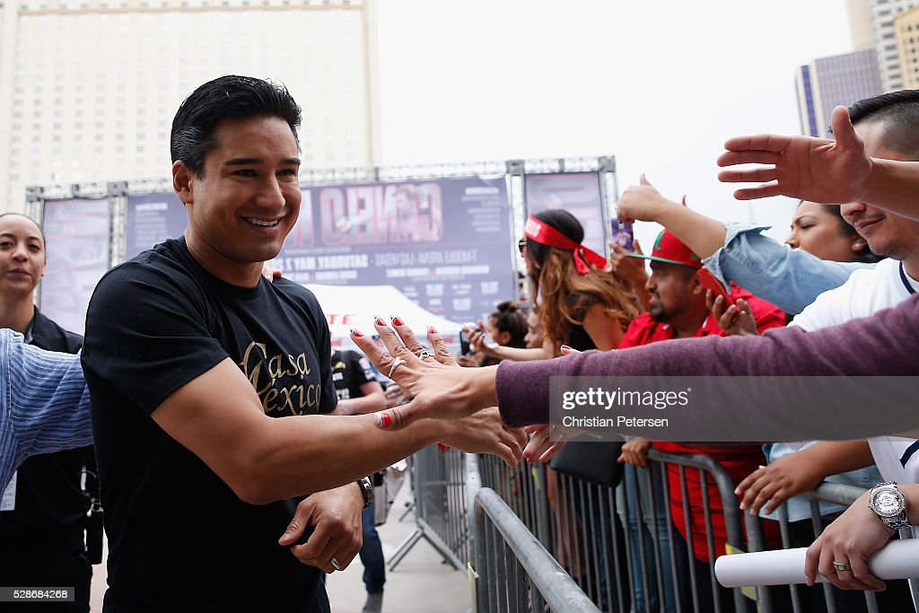 Television host and actor Mario Lopez attends the official weigh-in at T-Mobile Arena - Toshiba Plaza on May 6, 2016 in Las Vegas, Nevada.