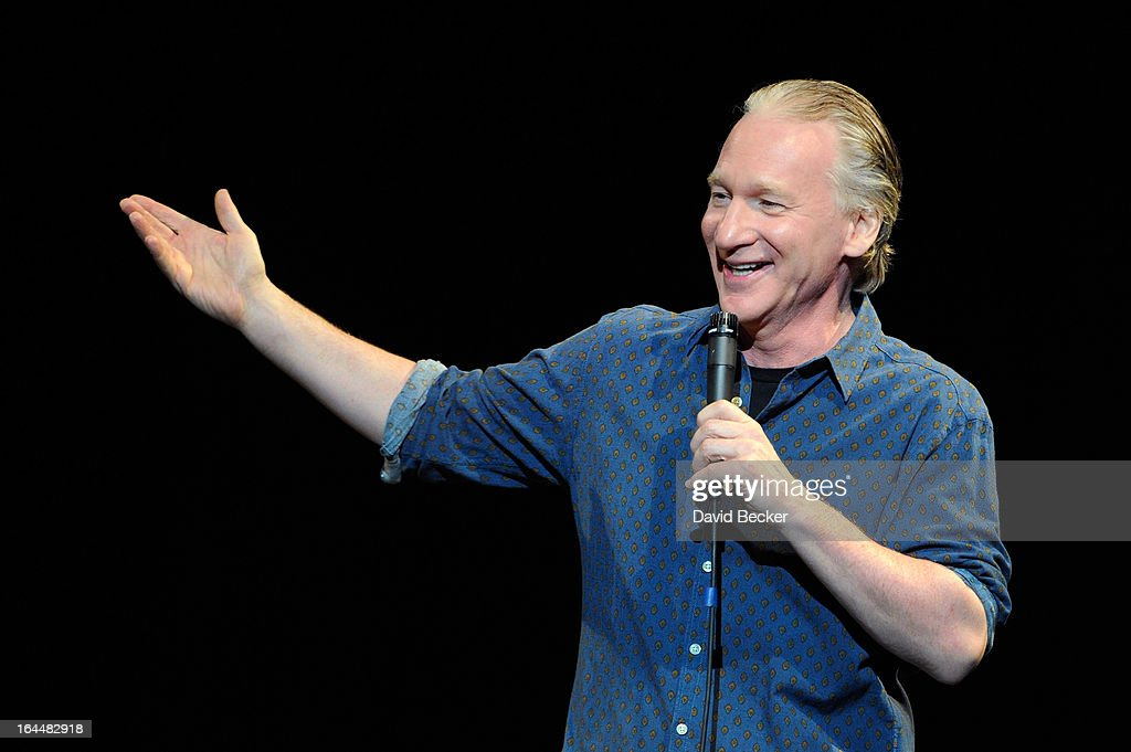 Television host and comedian Bill Maher performs at The Pearl concert theater at the Palms Casino Resort on March 23, 2013 in Las Vegas, Nevada.
