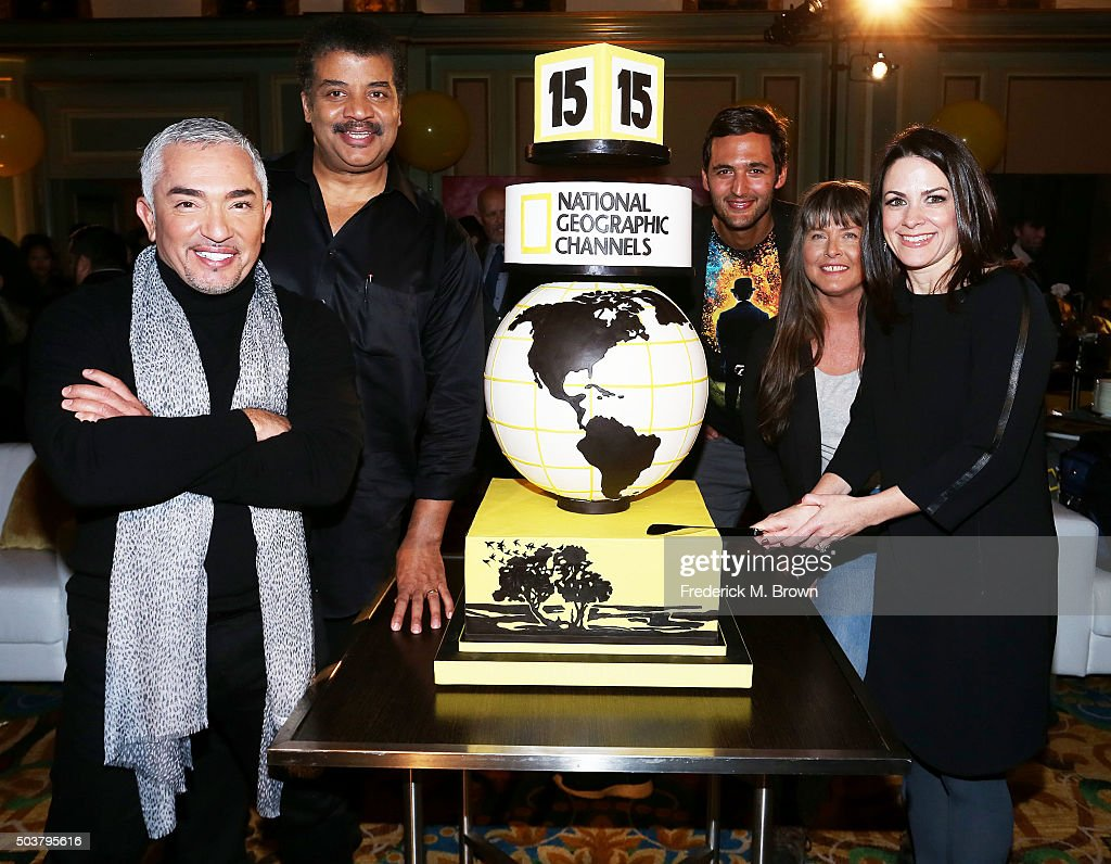 Television host Cesar Millan astrophysicist/television host Neil deGrasse Tyson television host Jason Silver television star Sue Aikens and Courteney...