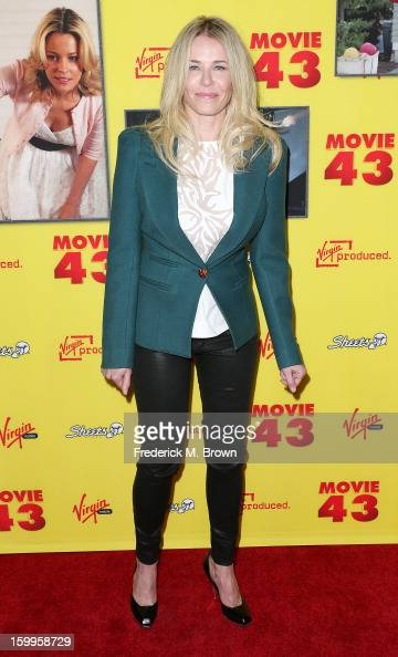 Television host Chelsea Handler attends the Premiere Of Relativity Media's 'Movie 43' at the TCL Chinese Theatre on January 23 2013 in Hollywood...