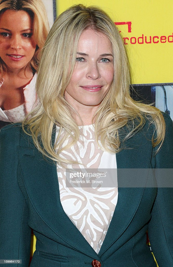 Television host Chelsea Handler attends the Premiere Of Relativity Media's 'Movie 43' at the TCL Chinese Theatre on January 23, 2013 in Hollywood, California.