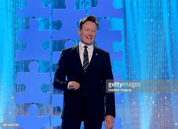 Television Host Conan O'Brien attends the Autism Speaks Celebrity Chef Gala at The Barker Hanger on October 8 2015 in Santa Monica California