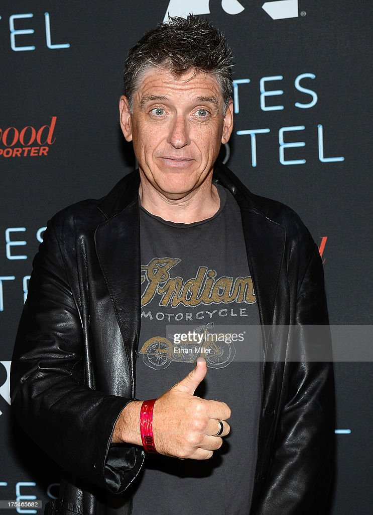 Television host <a gi-track='captionPersonalityLinkClicked' href=/galleries/search?phrase=Craig+Ferguson+-+Talk+Show+Host&family=editorial&specificpeople=204509 ng-click='$event.stopPropagation()'>Craig Ferguson</a> attends A&E's 'Bates Motel' party during Comic-Con International 2013 at Gang Kitchen on July 20, 2013 in San Diego, California.