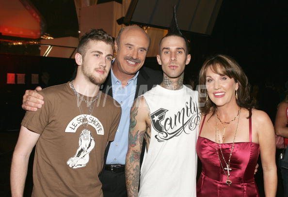 Television host Dr Phil McGraw wife Robin their son Jordan