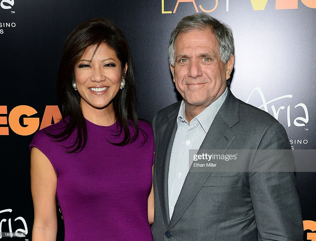 Television host Julie Chen and her husband CBS Corp President and CEO Leslie Moonves arrive at the after party for a screening of CBS Films' 'Last...