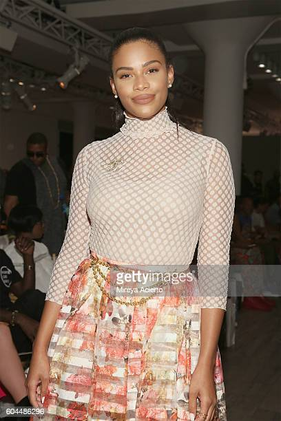 Television host Kamie Crawford attends the Vipe Activewear Collection with Angela Simmons fashion show during Style360 NYFW September 2016 at...