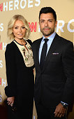 Television host Kelly Ripa and Mark Consuelos attend CNN Heroes 2015 Red Carpet Arrivals at American Museum of Natural History on November 17 2015 in...