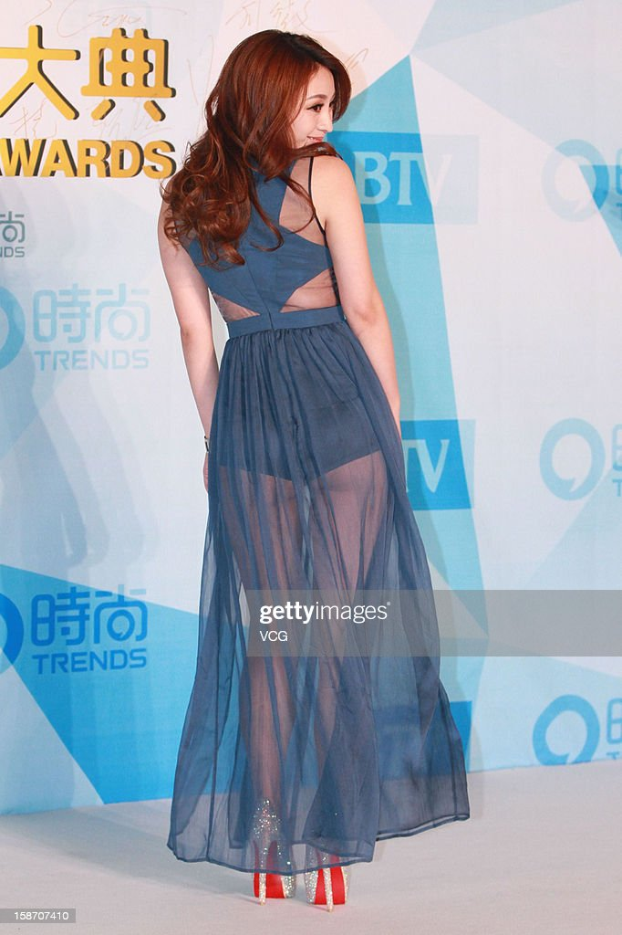Television host <a gi-track='captionPersonalityLinkClicked' href=/galleries/search?phrase=Liu+Yan&family=editorial&specificpeople=884869 ng-click='$event.stopPropagation()'>Liu Yan</a> arrives at the red carpet of the 2012 China Trends Awards at BTV Grand Theater on December 22, 2012 in Beijing, China.