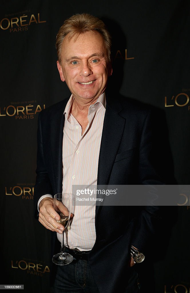 Television host <a gi-track='captionPersonalityLinkClicked' href=/galleries/search?phrase=Pat+Sajak&family=editorial&specificpeople=679021 ng-click='$event.stopPropagation()'>Pat Sajak</a> attends the L'Oreal cocktail party at Four Seasons Hotel Los Angeles at Beverly Hills on January 11, 2013 in Beverly Hills, California.