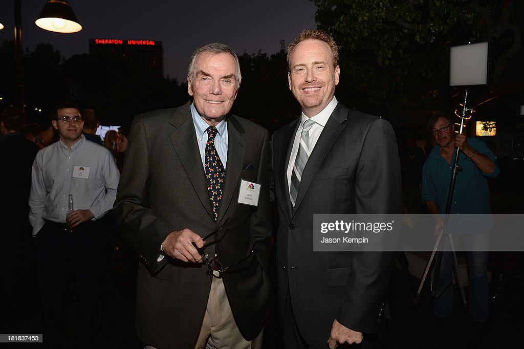 Television host Peter Marshall and Chairman NBC Entertainment <a gi-track='captionPersonalityLinkClicked' href=/galleries/search?phrase=Robert+Greenblatt&family=editorial&specificpeople=206679 ng-click='$event.stopPropagation()'>Robert Greenblatt</a> attend NBC's 80th Page Program Anniversary Celebration at Universal Studios Hollywood on September 25, 2013 in Universal City, California.