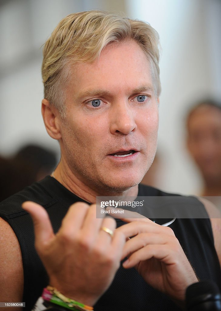 Television Host <a gi-track='captionPersonalityLinkClicked' href=/galleries/search?phrase=Sam+Champion&family=editorial&specificpeople=724932 ng-click='$event.stopPropagation()'>Sam Champion</a> attends American Cancer Society & Young Friends Of The DreamBall SoulCycle Charity Ride at SoulCycle 1470 Third Ave on September 22, 2012 in New York City.