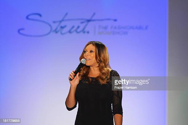 Television host Wendy Williams speaks on the runway at Strut The Fashionable Mom Show during MercedesBenz Fashion Week at The Studio Lincoln Center...