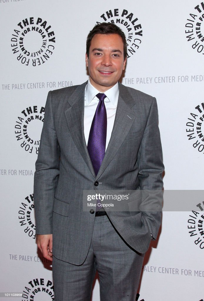 Television host/actor Jimmy Fallon attends Late Night With Jimmy Fallon & Brian Williams at The Paley Center for Media on May 27, 2010 in New York City.
