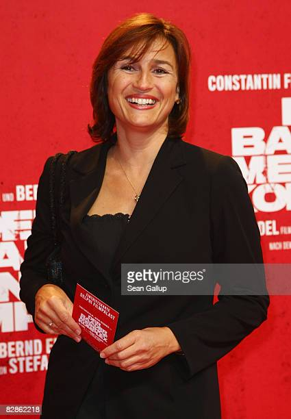 Television hostess Sandra Maischberger attends the Berlin premiere of 'The Baader Meinhof Complex' on September 17 2008 in Berlin Germany