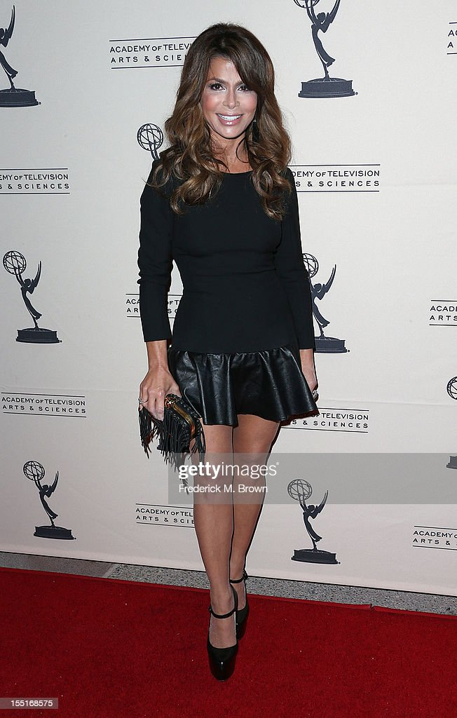 Television host/recording artist Paula Abdul attends The Academy of Television Arts & Sciences' Presents 'The Choreographers: Yesterday, Today and Tomorrow at the Leonard H. Goldenson Theatre on November 1, 2012 in North Hollywood, California.