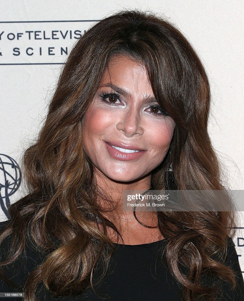 Television host/recording artist <a gi-track='captionPersonalityLinkClicked' href=/galleries/search?phrase=Paula+Abdul&family=editorial&specificpeople=202119 ng-click='$event.stopPropagation()'>Paula Abdul</a> attends The Academy of Television Arts & Sciences' Presents 'The Choreographers: Yesterday, Today and Tomorrow at the Leonard H. Goldenson Theatre on November 1, 2012 in North Hollywood, California.
