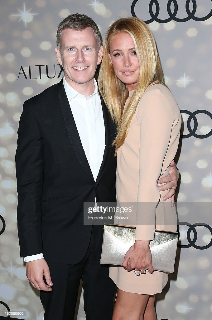 Television hosts <a gi-track='captionPersonalityLinkClicked' href=/galleries/search?phrase=Cat+Deeley&family=editorial&specificpeople=202554 ng-click='$event.stopPropagation()'>Cat Deeley</a> (R) and <a gi-track='captionPersonalityLinkClicked' href=/galleries/search?phrase=Patrick+Kielty&family=editorial&specificpeople=214270 ng-click='$event.stopPropagation()'>Patrick Kielty</a> attend Audi and Altuzarra's Primetime Emmy Awards Week 2013 Kick-Off Party at Cecconi's Restaurant on September 15, 2013 in Los Angeles, California.